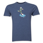 1990 FIFA World Cup Ciao Mascot Men's Fashion T-Shirt (Blue)