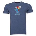 1998 FIFA World Cup Footix Mascot Men's Fashion T-Shirt (Blue)