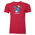 1998 FIFA World Cup Footix Mascot Men's Fashion T-Shirt (Heather Red)
