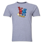 2002 FIFA World Cup Kaz & Nik Mascot Logo Men's Fashion T-Shirt (Gray)