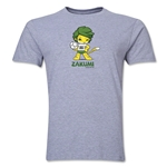 2010 FIFA World Cup Zakumi Mascot Men's Fashion T-Shirt (Gray)