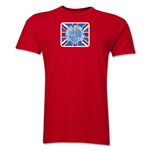 1966 FIFA World Cup England Men's Premium Historical Poster T-Shirt (Red)