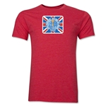 1966 FIFA World Cup England Men's Premium Historical Poster T-Shirt (Heather Red)