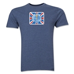 1966 FIFA World Cup England Men's Premium Historical Poster T-Shirt (Blue)