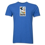 1934 FIFA World Cup Italy Men's Premium Historical Poster T-Shirt (Heather Royal)