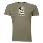 1934 FIFA World Cup Italy Men's Premium Historical Poster T-Shirt (Dark Green)