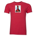 1938 FIFA World Cup France Men's Premium Historical Poster T-Shirt (Heather Red)