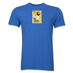 1958 FIFA World Cup Sweden Men's Premium Historical Poster T-Shirt (Heather Royal)