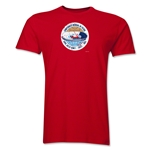 1962 FIFA World Cup Chile Men's Premium Historical Poster T-Shirt (Red)
