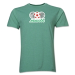 1986 FIFA World Cup Mexico Men's Premium Historical Poster T-Shirt (Heather Green)