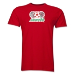 1986 FIFA World Cup Mexico Men's Premium Historical Poster T-Shirt (Red)