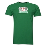 1986 FIFA World Cup Mexico Men's Premium Historical Poster T-Shirt (Green)