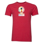 2002 FIFA World Cup Korea Japan Men's Premium Historical Poster T-Shirt (Heather Red)