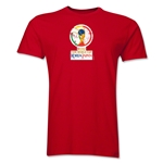 2002 FIFA World Cup Korea Japan Men's Premium Historical Poster T-Shirt (Red)