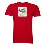 2006 FIFA World Cup Germany Men's Premium Historical Poster T-Shirt (Red)