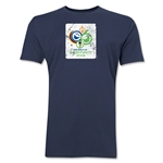 2006 FIFA World Cup Germany Men's Premium Historical Poster T-Shirt (Navy)