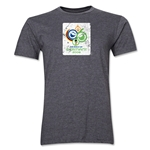 2006 FIFA World Cup Germany Men's Premium Historical Poster T-Shirt (Dark Grey)