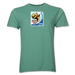 2010 FIFA World Cup South Africa Men's Premium Historical Poster T-Shirt (Heather Green)