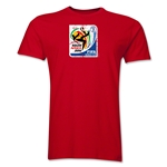 2010 FIFA World Cup South Africa Men's Premium Historical Poster T-Shirt (Red)