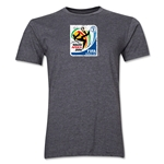 2010 FIFA World Cup South Africa Men's Premium Historical Poster T-Shirt (Dark Grey)