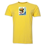 2010 FIFA World Cup South Africa Men's Premium Historical Poster T-Shirt (Yellow)
