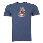 1966 FIFA World Cup Willie Men's Mascot Logo T-Shirt (Blue)