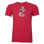 1990 FIFA World Cup Ciao Men's Mascot Logo T-Shirt (Heather Red)