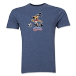 1994 FIFA World Cup Striker Men's Mascot Logo T-Shirt (Blue)