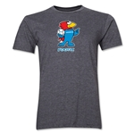 1998 FIFA World Cup Footix Men's Mascot Logo T-Shirt (Dark Grey)
