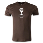 2014 FIFA World Cup Brazil(TM) Men's Fashion Event Emblem T-Shirt (Brown)