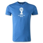 2014 FIFA World Cup Brazil(TM) Men's Premium Emblem T-Shirt (Heather Blue)