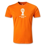 2014 FIFA World Cup Brazil(TM) Men's Fashion Emblem T-Shirt (Orange)