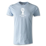 2014 FIFA World Cup Brazil(TM) Men's Fashion Emblem T-Shirt (Sky Blue)