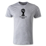 2014 FIFA World Cup Brazil(TM) Men's Fashion Emblem T-Shirt (Gray)