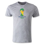 2014 FIFA World Cup Brazil(TM) Emblem Men's Premium T-Shirt (Gray)