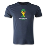 2014 FIFA World Cup Brazil(TM) Emblem Men's Premium T-Shirt (Navy)