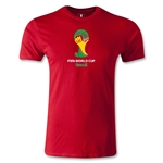 2014 FIFA World Cup Brazil(TM) Emblem Men's Fashion T-Shirt (Red)