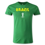 Brazil 2014 FIFA World Cup Brazil(TM) Core Men's Premium T-Shirt (Green)