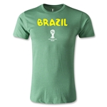 Brazil 2014 FIFA World Cup Brazil(TM) Core Men's Premium T-Shirt (Heather Green)