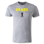 Brazil 2014 FIFA World Cup Brazil(TM) Core Men's Premium T-Shirt (Gray)