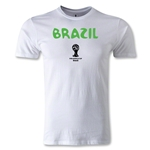 2014 FIFA World Cup Brazil(TM) Brazil Core Men's Fashion T-Shirt (White)