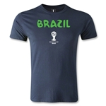 Brazil 2014 FIFA World Cup Brazil(TM) Core Men's Premium T-Shirt (Navy)