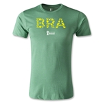 Brazil 2014 FIFA World Cup Brazil(TM) Elements Men's Premium T-Shirt (Heather Green)