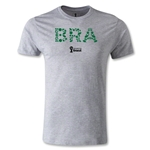 Brazil 2014 FIFA World Cup Brazil(TM) Elements Men's Premium T-Shirt (Grey)