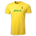 2014 FIFA World Cup Brazil(TM) Men's Fashion Team Brazil T-Shirt (Yellow)
