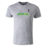 2014 FIFA World Cup Brazil(TM) Men's Fashion Team Brazil T-Shirt (Gray)