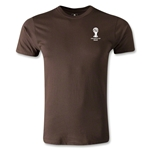 2014 FIFA World Cup Brazil(TM) Men's Emblem Fashion T-Shirt (Brown)