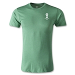 2014 FIFA World Cup Brazil(TM) Men's Emblem Premium T-Shirt (Heather Green)