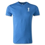 2014 FIFA World Cup Brazil(TM) Men's Emblem Fashion T-Shirt (Heather Royal)