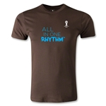 2014 FIFA World Cup Brazil(TM) Men's Fashion All In One Rhythm T-Shirt (Brown)